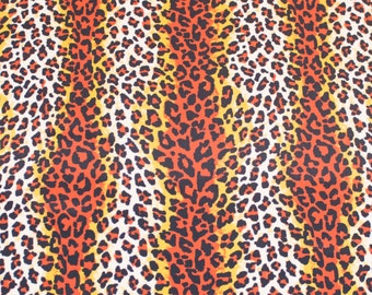 "LAMINATED Cotton  - Cheetah 56"" Wide, BPA & PVC Free"