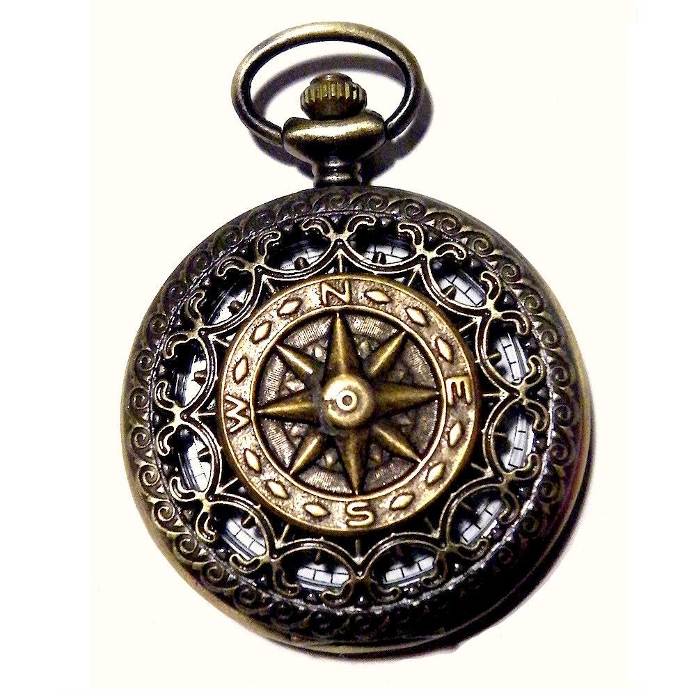 steunk compass pocket antique by