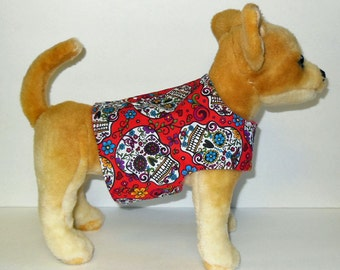 Sugar Skull Harness-Vest for Small dog