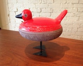 Vintage red Bitossi duck from Italy