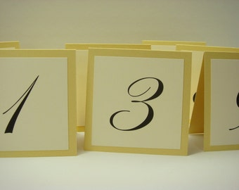 Table Numbers Gold Small Tented Design Great Table Number Idea Elegant Wedding Table Numbers