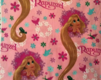 A Wonderful Disney Rapunzel With Her Long Locks Of Hair Tossed Fleece Fabric By The Yard Free US Shipping
