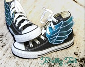 Totally Teal Shoe Wings - for YouR SupeR HerO