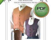 Pdf Steampunk /Wedding Waistcoat vest FULL SIZE Sewing pattern. Instant print at home a4 usa  letter