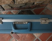 Vintage Turquoise Suitcase reserved for cindy