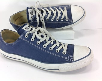 converse sneakers shoes mens 14 D chuck taylor blue canvas all star skater basketball retro