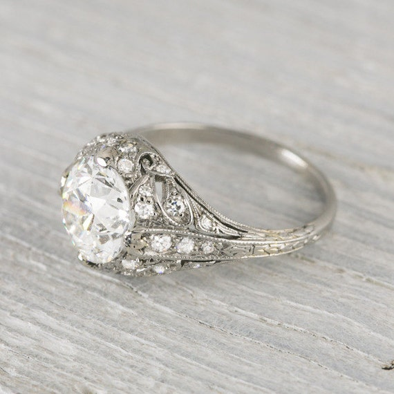 Items similar to 2 03 Carat Vintage Engagement Ring on Etsy