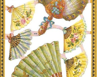 Vintage victorian style die cut scraps no. 65
