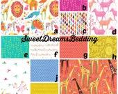 Custom Crib Bedding You Design   Bumper and Bedskirt in Origami Flower