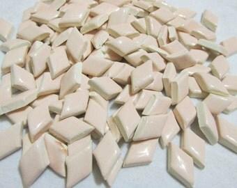 Pink Diamonds mosaic tiles, Handmade ceramic Diamonds