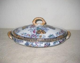 Vintage, Japanese, fine porcelain covered dish