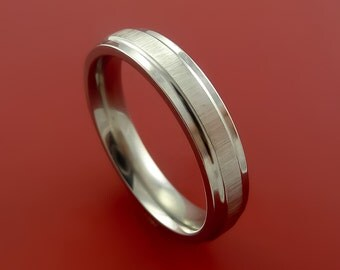Titanium Woman's Modern Wedding Band Unisex Engagement Rings Made to Any Sizing 3-22