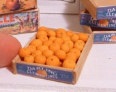 Miniature Dollhouse Clementines Wooden Box Crate
