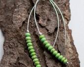Lime Magnesite Earrings