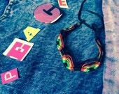 1000 RASTAs friendship bracelets woven zigzag, macramé, jamaican, reggae colors bob marley. Free shipping.