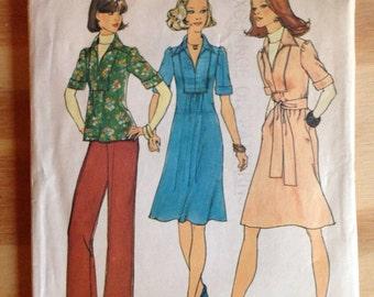 1975 Simplicity Dress, Shirt and Pant Pattern Size 12