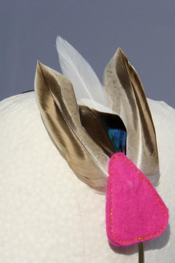 Feather Headband Pink Triangle