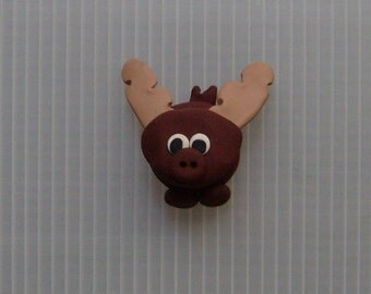 polymer clay moose magnet