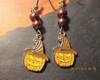 Pumpkin Face Earrings