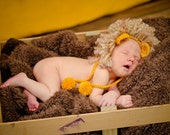baby lion hat newborn photography prop..wizard of oz cowardly lion..leo the lion