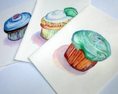 Cupcake Notecards Set - Cupcake Art Cards (Ed. 1) , Set of 12