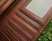 Genuine Leather Credit Cards Holder Long Wallet