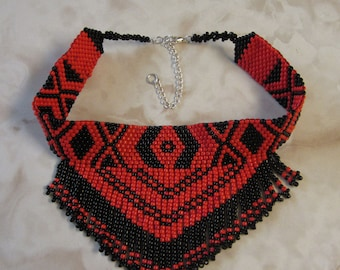 Native American Inspired Peyote Stitch Necklace