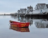 Nantucket Photography, Red Row Boat, Sunken Ship, Yellow Dog, Cottage Decor, Nautical Wall Art Large Wall Art, Seaside Art, Nantucket Gifts