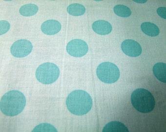 Aqua Tone on Tone Medium Dots Riley Blake Designs 1 Yard