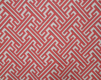 TRELLIS GERANIUM designer, drapery/bedding/upholstery ikat fabric