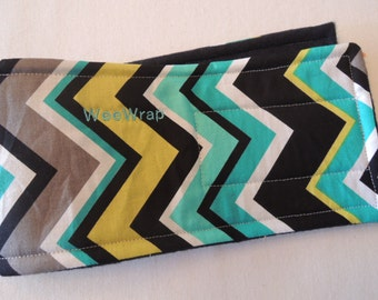 Dog Belly Band, Stop Marking with WeeWrap, Chevron, Personalized