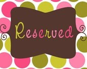 Reserved for Jennifer W