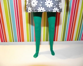 Dark green sheer tights leggins for Pullip doll