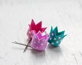 Hair bobby pin - Polka Dot Crown