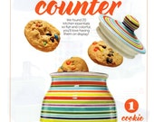 Special Order - As Seen on September 2014 HGTV Magazine - Tall Cookie Jar - Hand Painted Stripes Ceramic Pottery