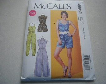 Pattern Ladies Rompers and Jumpsuits  Sizes 4 to 14 McCalls 6969