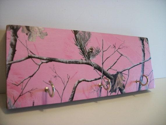 pink camo bedroom decor camouflaged key rack pink camo decor real tree key 16725