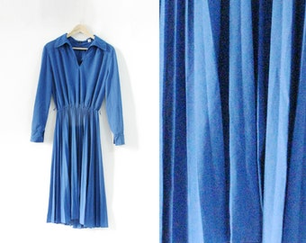 Girly Blue Pleated Dress