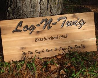 Large Wood sign - CUSTOM - hand carved -- rustic un painted -- reclaimed western cedar