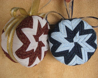 PDF-Quilted Christmas No-Sew Ornament, Complete Pattern Download-Pinwheel- PDF