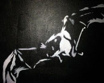 Bat in Flight Painting