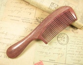 Big Handle Purpleheart Wood Hair Comb