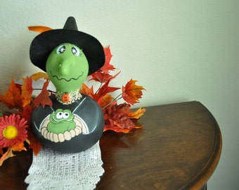 SALE Wanda the Halloween  Gourd Witch