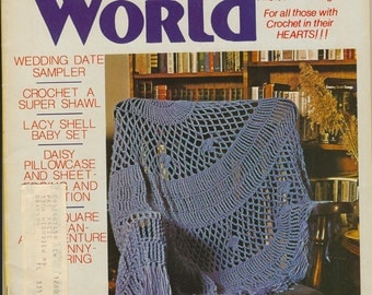 Crochet World Magazine - June 1980, Vintage Magazine, Crochet World, Crochet Magazine, Crochet Patterns