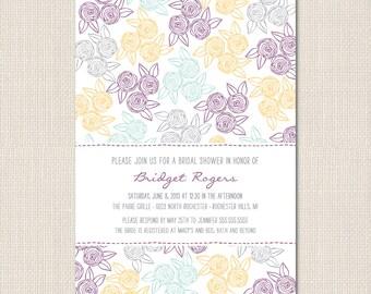 Rustic Rosette Bridal Shower Invite - DEPOSIT