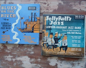 JAZZ Record. BLUES Record. Lawson Haggart. Jazz Band. Jazz Music. Jelly Rolls Jazz. Blues on the River. Beale Street Blues. 1950s music.