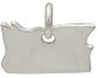 Sterling Silver Oregon State Charm Qty 1