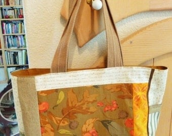 Autumn Patchwork Tote Bag