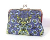 Clutch Purse Bag. Stag midnight glow. Gorgeous cotton texture. **Please note this item is made to order