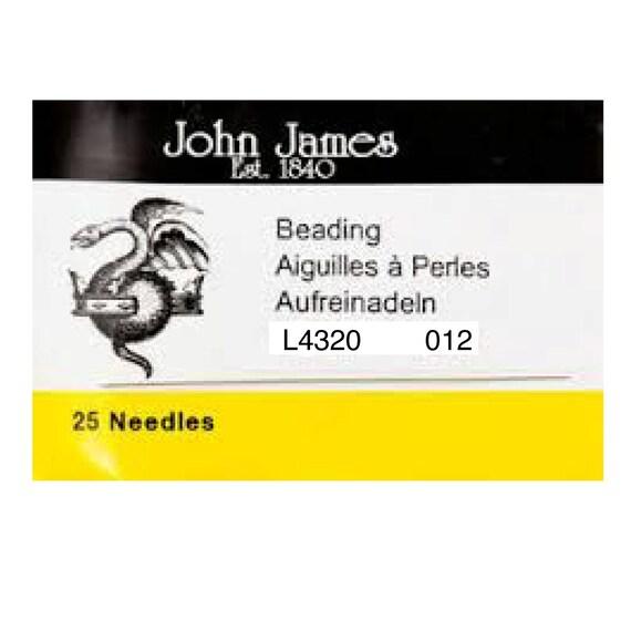 Needles-Beading-John James-Size 12-Quantity 25